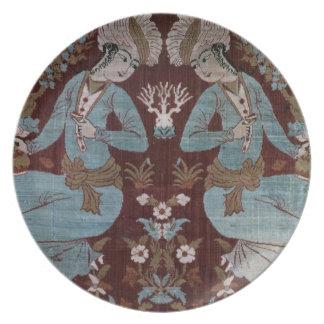 Isfahan style panel, Persian, 17th century (silk) Dinner Plates
