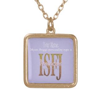 ISFJ theProtector Gold Plated Necklace