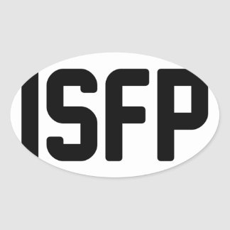 ISFP OVAL STICKER