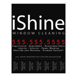 iShine. House Cleaning Window Cleaning Power Wash Flyer