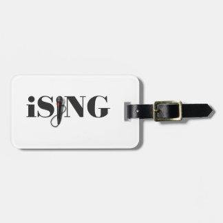 iSING Microphone Performer Bag Tag