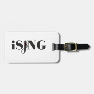 iSING Microphone Performer Luggage Tag