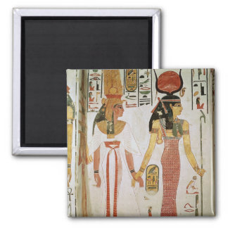 Isis and Nefertari Square Magnet