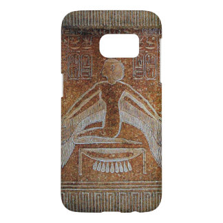 ISIS / Antique Egyptian Goddess ,Brown White Samsung Galaxy S7 Case
