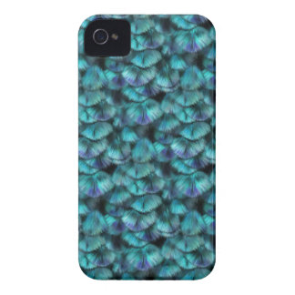 Isis blue feather pattern Case-Mate iPhone 4 case
