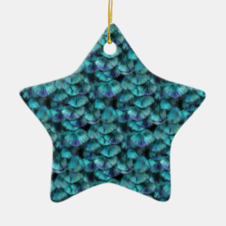 Isis blue feather pattern ceramic ornament