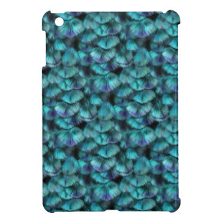 Isis blue feather pattern cover for the iPad mini