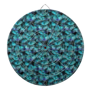Isis blue feather pattern dartboard