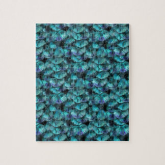 Isis blue feather pattern jigsaw puzzle