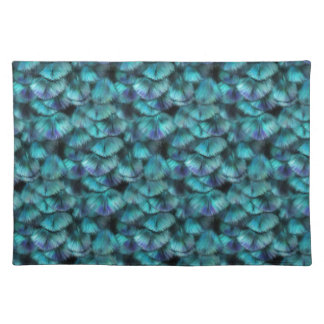 Isis blue feather pattern placemat