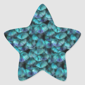 Isis blue feather pattern star sticker