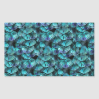 Isis blue feather pattern sticker
