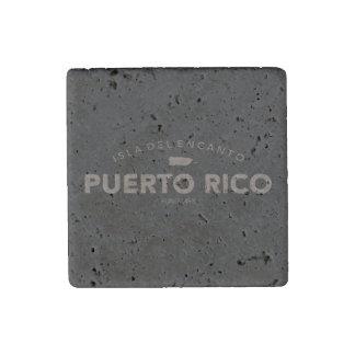 Isla del Encanto, Puerto Rico Map Stone Magnets