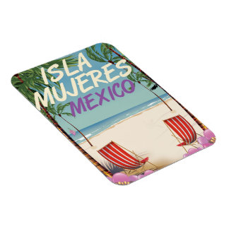 Isla Mujeres Mexico Beach poster Magnet