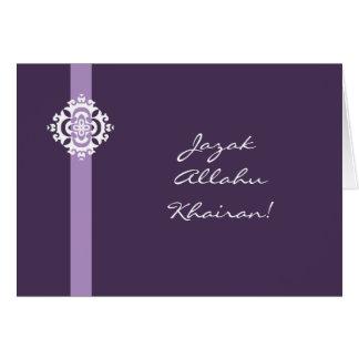 Islam Arabic Thank you card - Jazak Allahu khairan