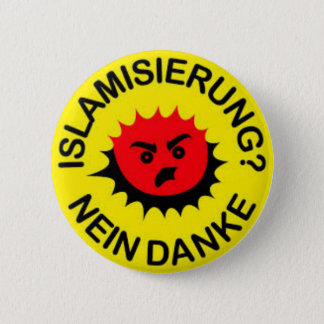 Islam, hate, islamisation, 2 inch round button