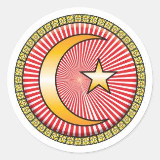 Islam Icon Classic Round Sticker