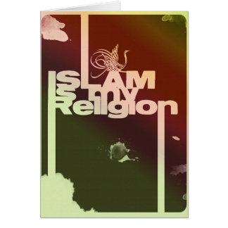 Islam is my Religion - Islamic  Arabic print Card