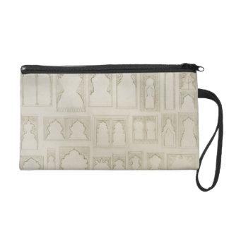Islamic and Moorish arch designs for balconies, wi Wristlet Clutch