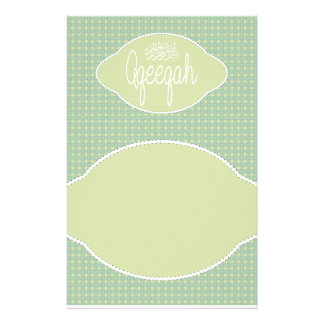 Islamic Aqeeqah Aqiqah soft green vintage Stationery