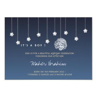 Islamic Aqiqah Aqeeqah baby night sky star Card