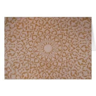 Islamic art and geometric design. card