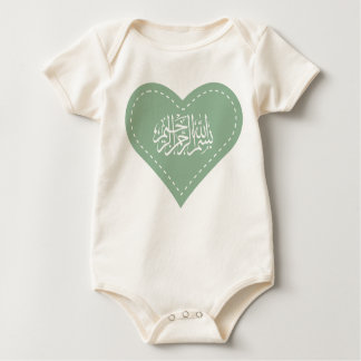 Islamic baby Aqiqah dress bismillah heart