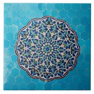 Islamic circle mosaic Ceramic Photo Tile