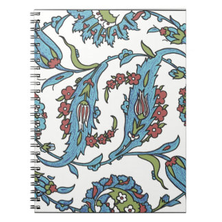 Islamic Floral Ceramic Tile #1 Notebook