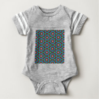 islamic geometric pattern baby bodysuit