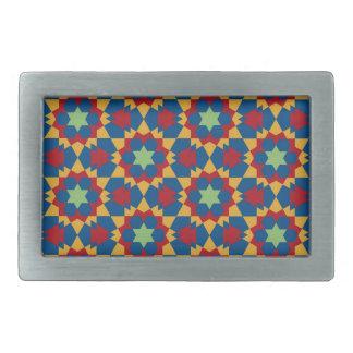 islamic geometric pattern belt buckle