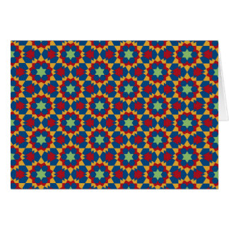 islamic geometric pattern card