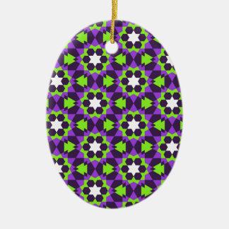 islamic geometric pattern ceramic ornament
