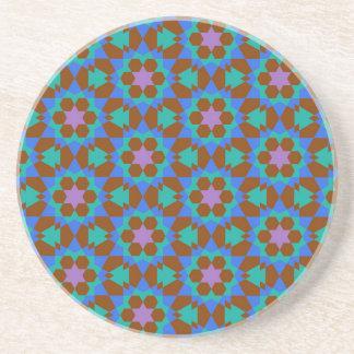 islamic geometric pattern coaster
