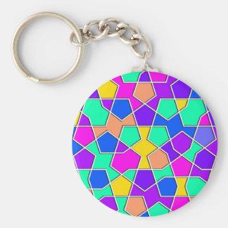 islamic geometric pattern keychain
