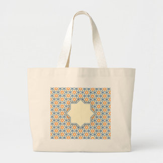 islamic geometric pattern large tote bag