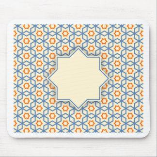 islamic geometric pattern mouse pad