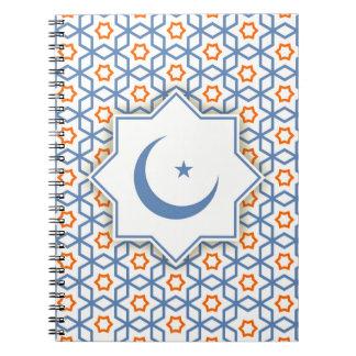 islamic geometric pattern notebook
