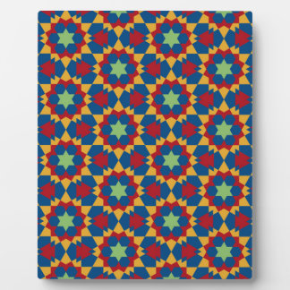 islamic geometric pattern plaque