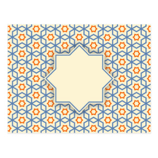 islamic geometric pattern postcard