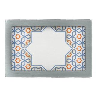 islamic geometric pattern rectangular belt buckle