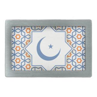 islamic geometric pattern rectangular belt buckles