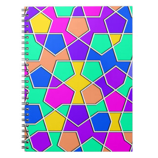 islamic geometric pattern spiral notebook