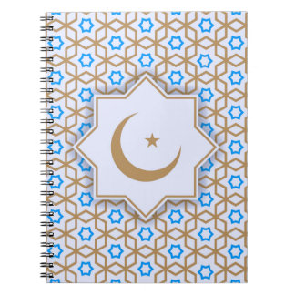 islamic geometric pattern spiral notebooks