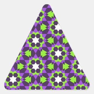 islamic geometric pattern triangle sticker
