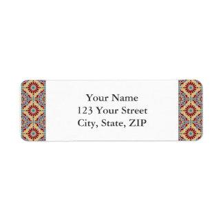 Islamic geometric patterns return address label