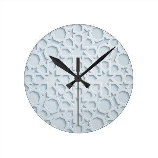 islamic inspired moroccan geometric pattern clock