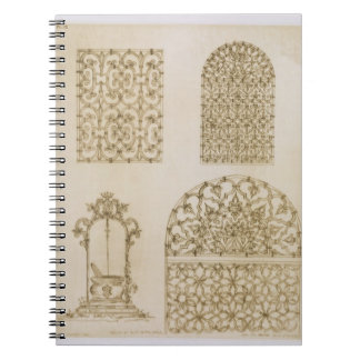 Islamic ironwork grills for windows and wells, fro notebooks