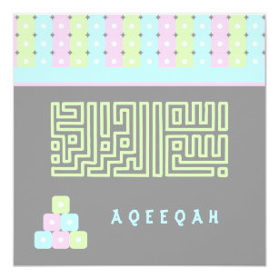 Aqeeqah invitations announcements zazzle ca islamic islam aqeeqah aqiqah cute brick bismillah card stopboris Image collections
