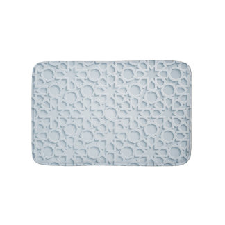 islamic moroccan geometric pattern bath mat